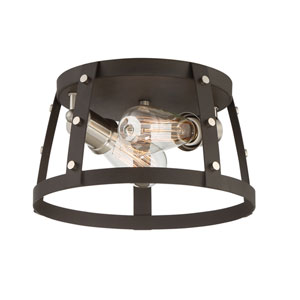Presidio Rustique Two-Light Flush Mount