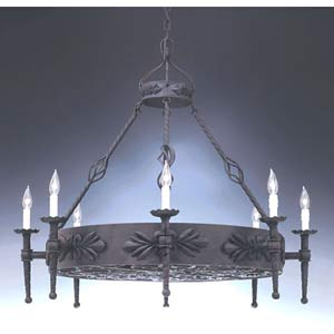 Alhambra Natural Iron Eight-Light Chandelier