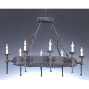 Alhambra Eight-Light Oval Chandelier