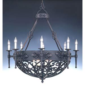 Alhambra Natural Iron Fourteen-Light Chandelier