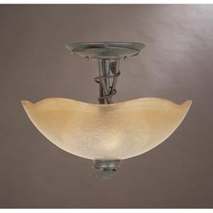 Timberline Old Bronze Three-Light Semi Flush