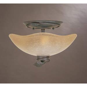 Timberline Old Bronze Two-Light Semi Flush