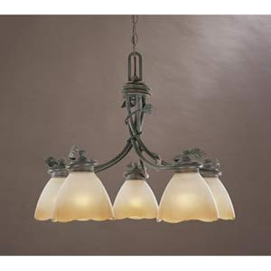 Timberline Old Bronze Five-Light Chandelier