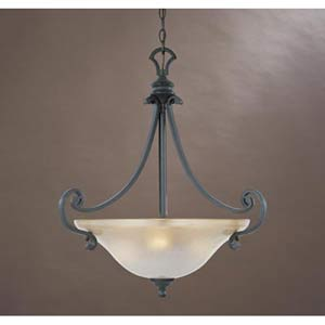 Barcelona Natural Iron Three-Light Pendant