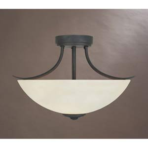 Montego Oil Rubbed Bronze Two-Light Semi Flush