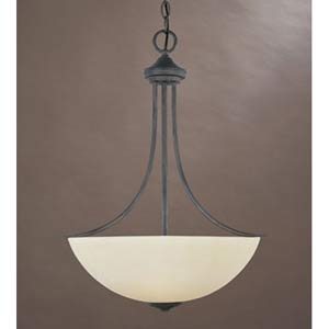 Montego Oil Rubbed Bronze Three-Light Pendant