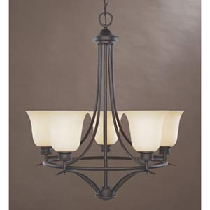 Montego Oil Rubbed Bronze Five-Light Chandelier