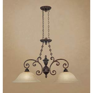 Amherst Burnt Umber Two-Light Pendant
