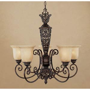 Amherst Burnt Umber Five-Light Chandelier