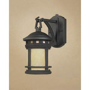 Sedona Extra Small Oil Rubbed Bronze One-Light Fluorescent Outdoor Wall Light with Photocell