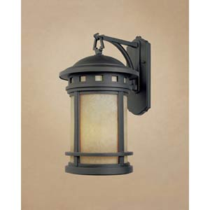 Sedona Small Oil Rubbed Bronze One-Light Fluorescent Outdoor Wall Light with Photocell
