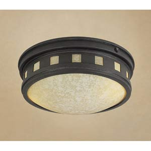 Sedona Oil Rubbed Bronze One-Light Outdoor Flush Mount with Photocell
