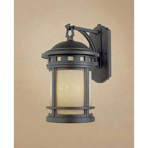 Sedona Medium Oil Rubbed Bronze One-Light Fluorescent Outdoor Wall Light with Photocell