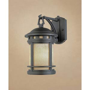 Sedona Large Oil Rubbed Bronze One-Light Fluorescent Outdoor Wall Light with Photocell