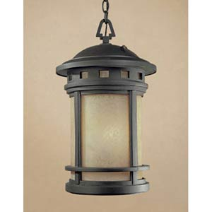 Sedona Oil Rubbed Bronze One-Light Fluorescent Outdoor Pendant with Photocell