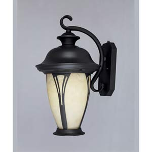 Westchester Large Bronze One-Light Fluorescent Outdoor Wall Light with Photocell