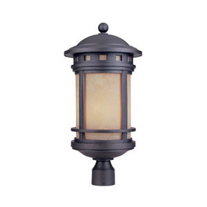Sedona Oil Rubbed Bronze One-Light Post Lantern with Photocell