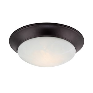 Halo Oil Rubbed Bronze 13.5-Inch Wide LED Flush Mount
