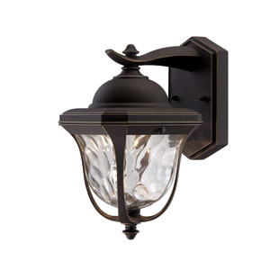 Marquette Aged Bronze Patina 10.25-Inch LED One-Light Wall Lantern