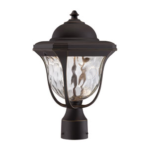 Marquette Aged Bronze Patina LED One-Light Post Lantern