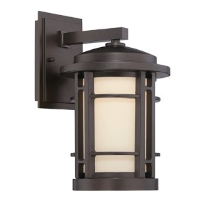 Barrister Burnished Bronze 9-Inch Wide LED Outdoor Wall Lantern
