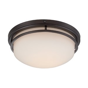 Ramsey Oil Rubbed Bronze 15-Inch Wide LED Flush Mount