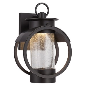 Arbor Burnished Bronze 9-Inch Wide LED Outdoor Wall Lantern