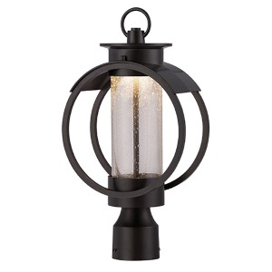 Arbor Burnished Bronze 9-Inch Wide LED Outdoor Post Lantern
