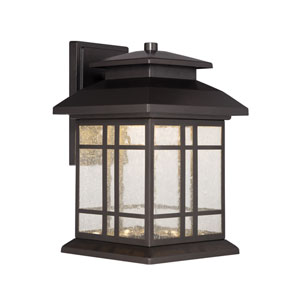 Piedmont Oil Rubbed Bronze 8-Inch Energy Star LED Outdoor Wall Lantern