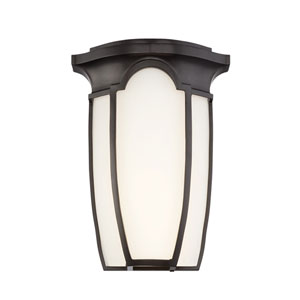 Tudor Row Burnished Bronze LED Outdoor Wall Sconce