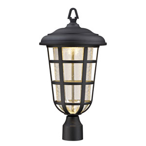 Triton Black LED Outdoor Post Lantern