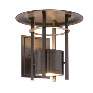 Englewood Burnished Bronze LED Outdoor Wall Sconce