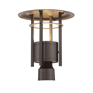 Englewood Burnished Bronze LED Outdoor Post Lantern