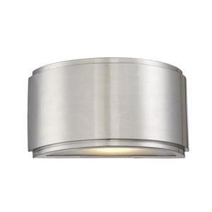 Halsey Brushed Aluminum 9-Inch LED Outdoor Wall Lantern