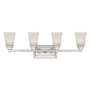 Trenton Satin Platinum Four-Light LED Bath Fixture