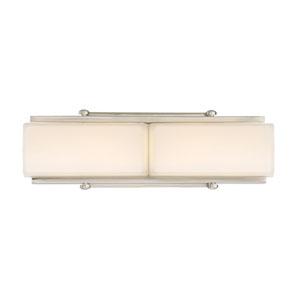 Rowan Satin Platinum 15-Inch LED Bath Light