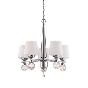Astoria Chrome Five-Light Chandelier