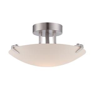 Archer Satin Platinum LED Semi-Flush