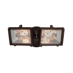 Quartz Halogen Distressed Bronze Security Light