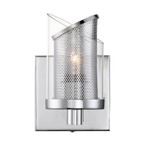 So Inclined Chrome One-Light Bath Sconce