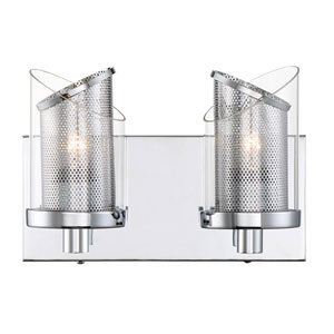 So Inclined Chrome Two-Light Bath Vanity