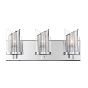 So Inclined Chrome Three-Light Bath Vanity