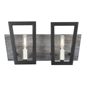 Zag Black and Gray Wood Two-Light ADA Bath Vanity