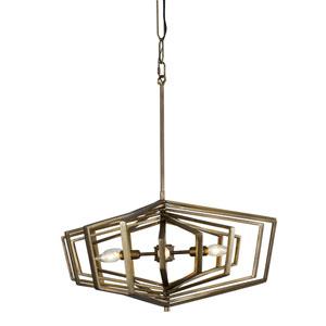 Gymnast Havana Gold 26-Inch Six-Light Pendant