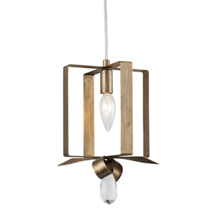 Posh Havana Gold Seven-Inch One-Light Mini Pendant