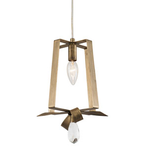 Posh Havana Gold Seven-Inch One-Light Mini Tall Pendant