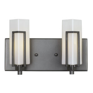 Highlander Rustic Bronze Two-Light Bath Vanity