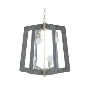 Lofty Silverado And Gray 26-Inch Six-Light Pendant
