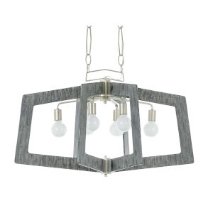 Lofty Silverado And Gray 36-Inch Six-Light Pendant