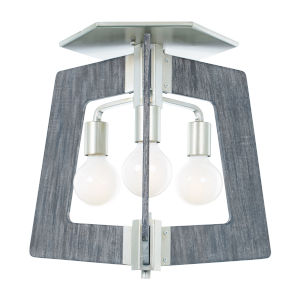 Lofty Silverado And Gray Three-Light Flush Mount
